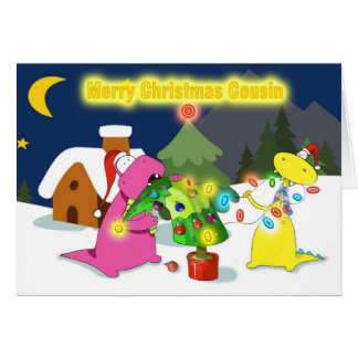 merry christmas cousin greeting card