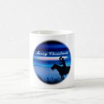 Merry Christmas Cowboy Rider Coffee Mug