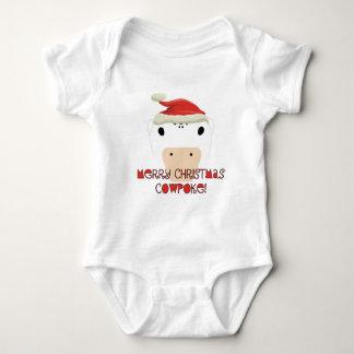 Merry Christmas CowPoke Baby Bodysuit