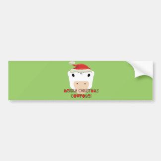 Merry Christmas CowPoke Bumper Sticker