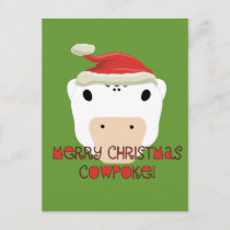 Merry Christmas CowPoke Holiday Postcard