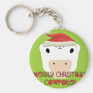 Merry Christmas CowPoke Keychain