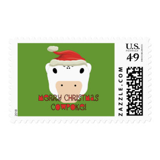 Merry Christmas CowPoke Postage Stamps