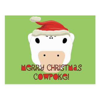 Merry Christmas CowPoke Postcard
