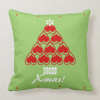 Merry Christmas Cozy Hearts Matching Holiday Pillows