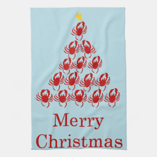 Merry Christmas Crab Towel