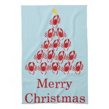 Christmas Themed Merry Christmas Crab Towel