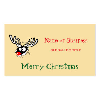 Merry Christmas! Crazy Red Nosed Reindeer Business Card