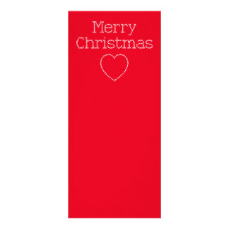 Merry Christmas cross stitch sign Rack Card