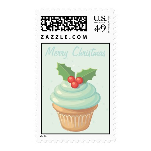 Merry Christmas Cupcake Postage