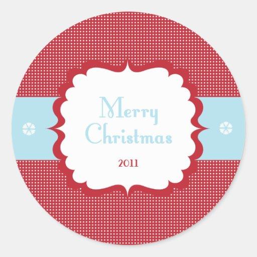 Merry Christmas - Cupcake Topper Sticker
