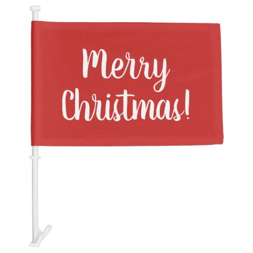 Merry Christmas custom car window flag