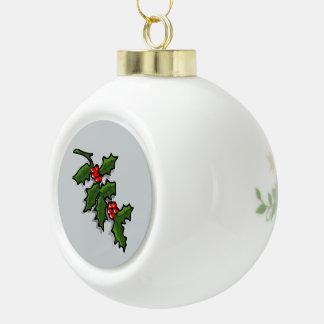 Merry Christmas Custom Ceramic Ball Ornament