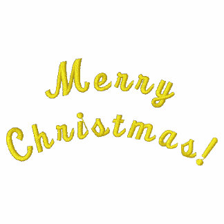 Merry Christmas! Custom Embroidered Zip Hoody