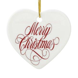Merry Christmas! Custom Heart Ornament ornament