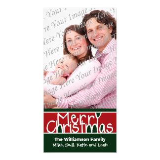 Merry Christmas Custom Holiday Photo Card