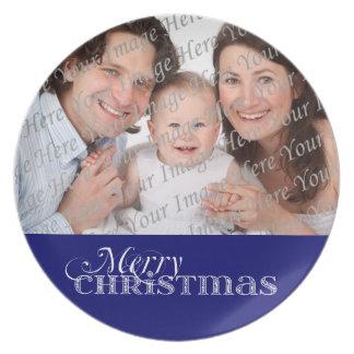Merry Christmas Custom Holiday Photo Plate
