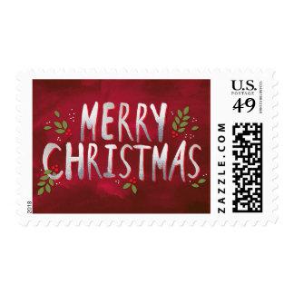 Merry Christmas Custom Holiday Postage Stamp