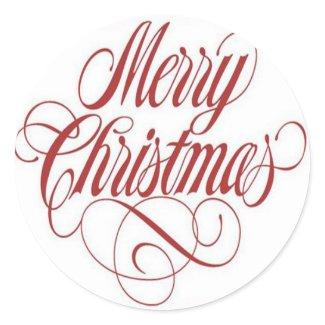 Merry Christmas! Custom Large Round Sticker sticker