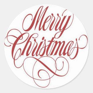 Merry Christmas! Custom Large Round Sticker
