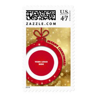 Merry Christmas. Custom Logo Christmas Stamps