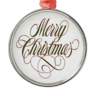Merry Christmas! Custom Metal Ornament ornament