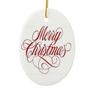 Merry Christmas! Custom Oval Ornament ornament