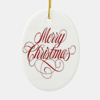 Merry Christmas! Custom Oval Ornament