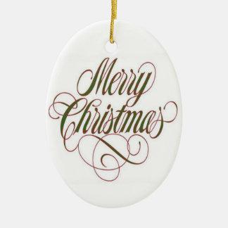 Merry Christmas! Custom Oval Ornament
