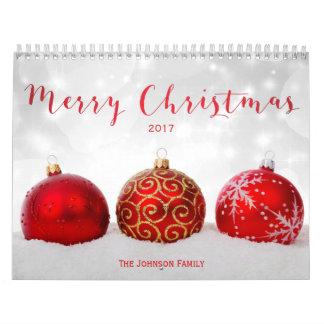Merry Christmas Custom Photo Calendar 2017