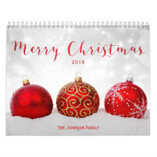 Merry Christmas Custom Photo Calendar 2019