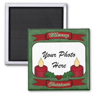 Merry Christmas! Custom Photo Magnet