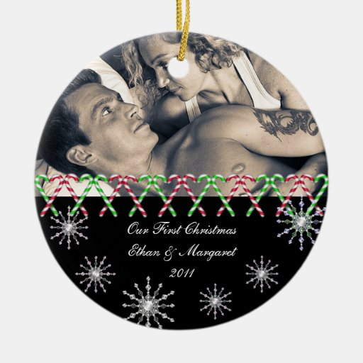 Merry Christmas Custom Picture Snowflakes Christmas Ornament