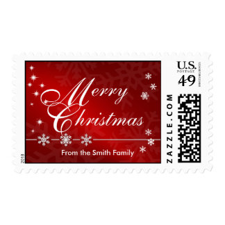 Merry Christmas Custom Postage Stamps