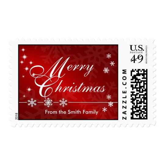 Merry Christmas Custom Postage Stamps