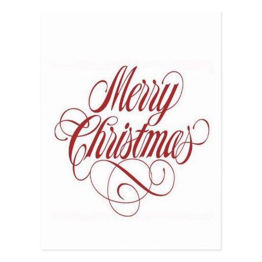 Merry Christmas! Custom Postcard Template