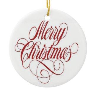 Merry Christmas! Custom Round Ornament ornament