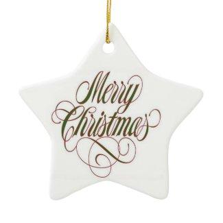 Merry Christmas! Custom Star Ornament ornament