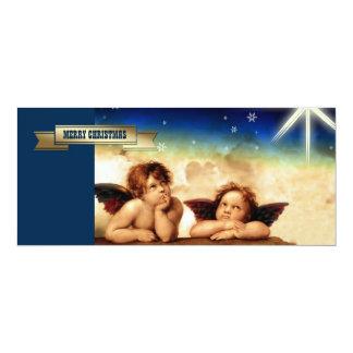 """Merry Christmas. Customizable Christmas Cards 4"""" X 9.25"""" Invitation Card"""