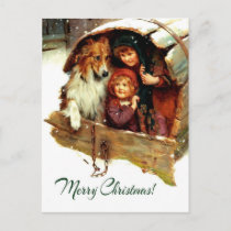 Merry Christmas . Customizable Christmas Postcards