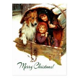 Merry Christmas . Customizable Christmas Postcards