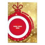 Merry Christmas. Customizable Corporate Photo Card Invitations