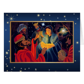 Merry Christmas. Customizable Greeting Card