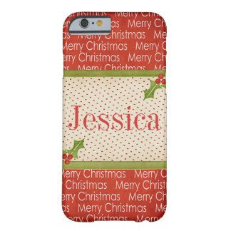 Merry Christmas customizable iPhone 6 case