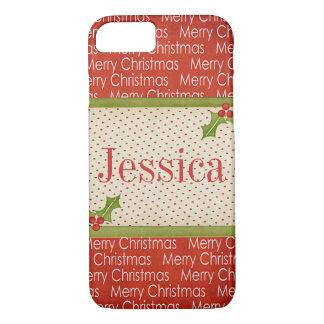 Merry Christmas customizable iPhone 7 case