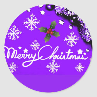 Merry Christmas_Customize Product Classic Round Sticker