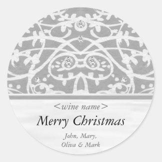 Merry Christmas Customized Wine Label Sticker