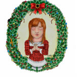 Merry Christmas Cut-Out ornament