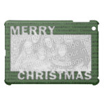 Merry Christmas Cut Out Photo Frame Green Case For The iPad Mini