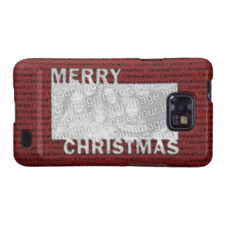 Merry Christmas Cut Out Photo Frame Red Samsung Galaxy S Case